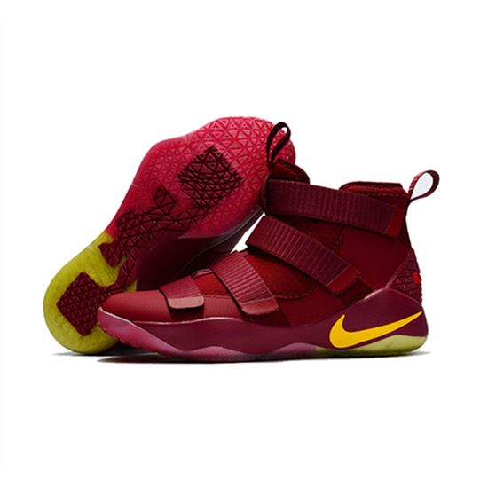 huge discount 357ee f2186 Nike Lebron soldier 11 New red yellow, Lebron Shoes, Lebron ...