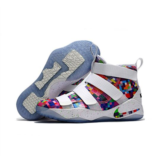 premium selection ee0a4 98548 Nike Lebron soldier 11 New white rainbow, Lebron Shoes ...