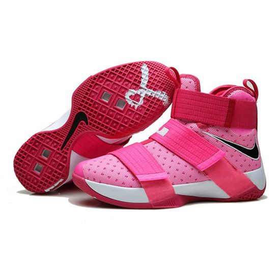 best sneakers 6d1d1 2749b Nike Lebron Soldier 10 X Shoes Breast cancer pink, Lebron ...